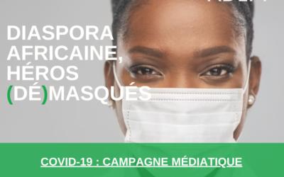 """Carine Nsoudou, la directrice exécutive d'ADEPT, présente la campagne """"DIASPORA AFRICAINE HÉROES (DÉ) MASQUÉS"""""""